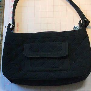 Vera Bradley black quilted purse 12 x 7